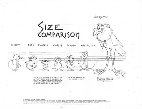 Please Check Out Nimhs New And >> Secret Of N I M H 8 Page Set Of Don Bluth Model Sheets Multiple